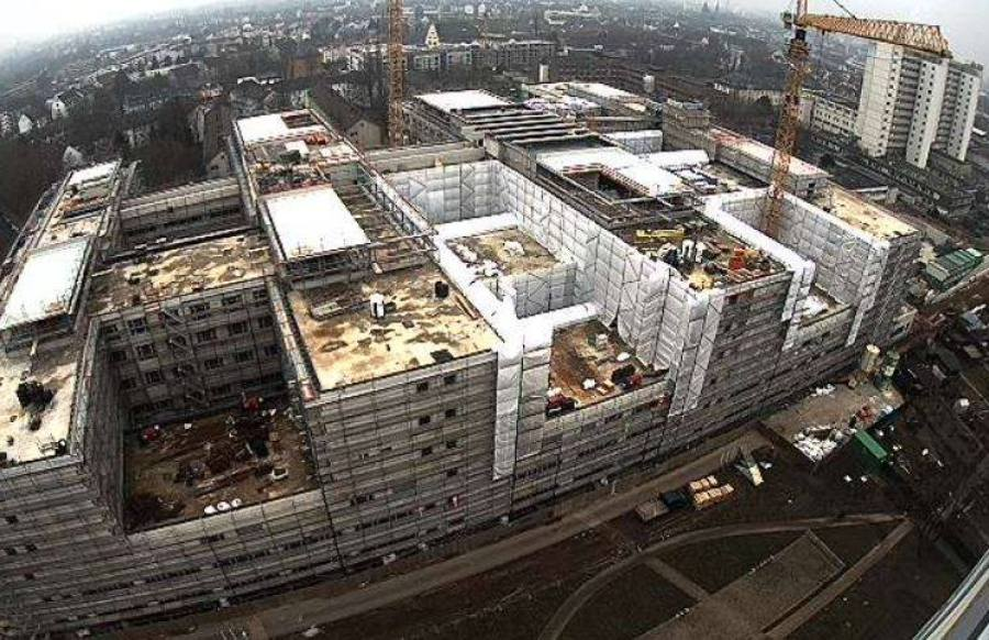 Current progress of the new hospital building in Frankfurt