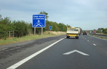Image result for motorway chevrons