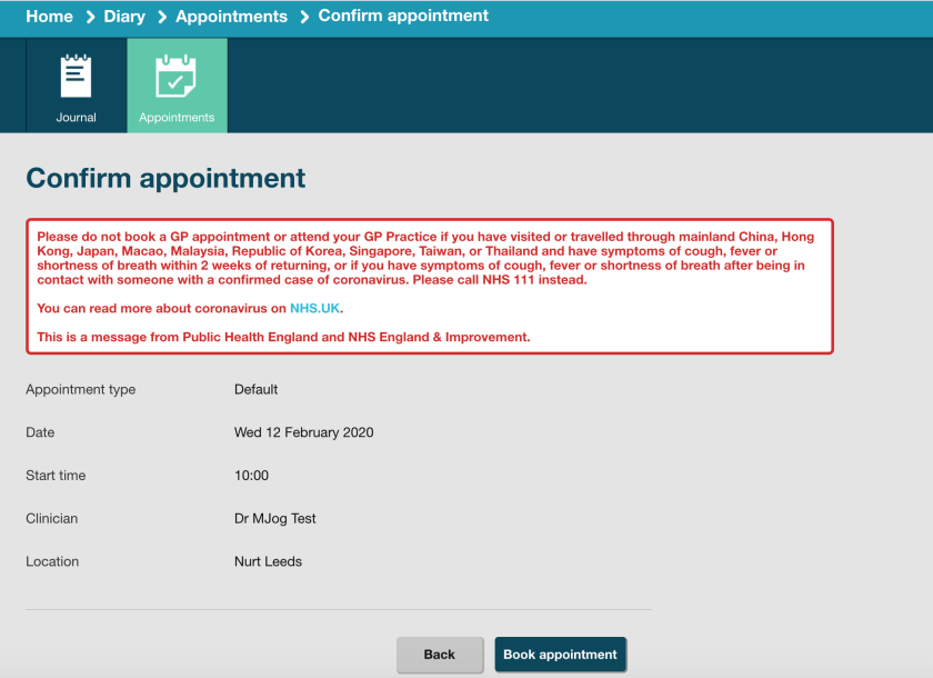 Confirm-Appointment-Coronavirus-Message