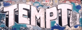 """The """"Tag"""" or Signature for Los Angeles Graffiti Artist TEMPT ONE"""
