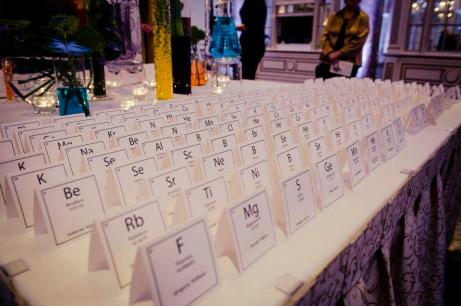 Keeping with the Laboratory Theme, The Name Cards Were Inspired by the Periodic Table of Elements