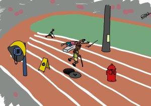 Corrida com Obstáculos para cegos