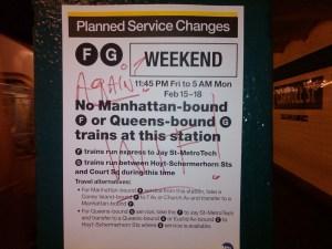 Manutenção do metrô de NYC: com rotas alternativas disponíveis.