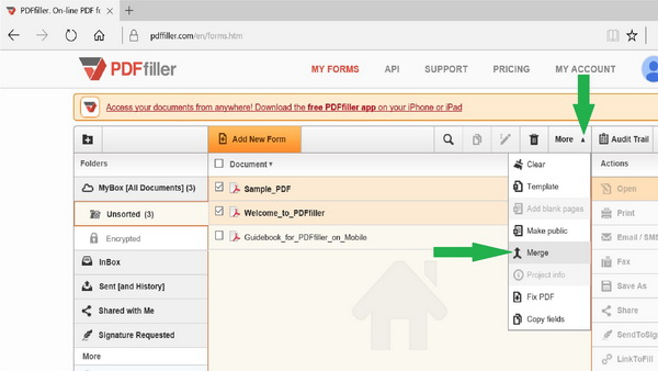 combine PDF, combining documents, combining pdf, merge pdf, merging documents, merging PDF documents, PDFfiller