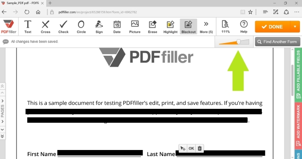 redact PDF, redact pdf tool, edit a PDF document, PDFfiller, blackout-pdf, how to black out pdf