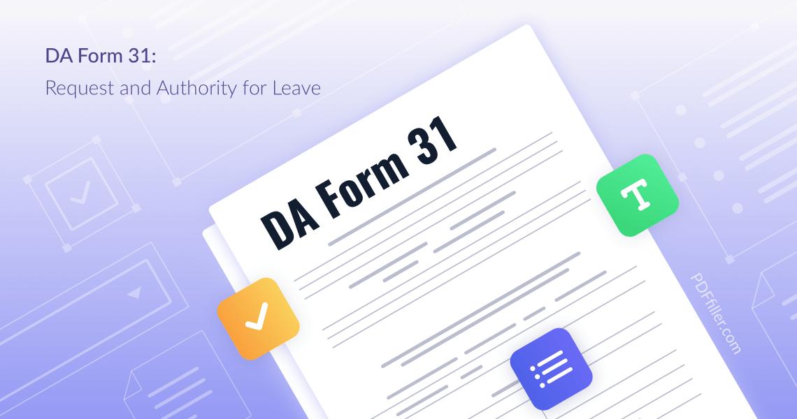 DA Form 31