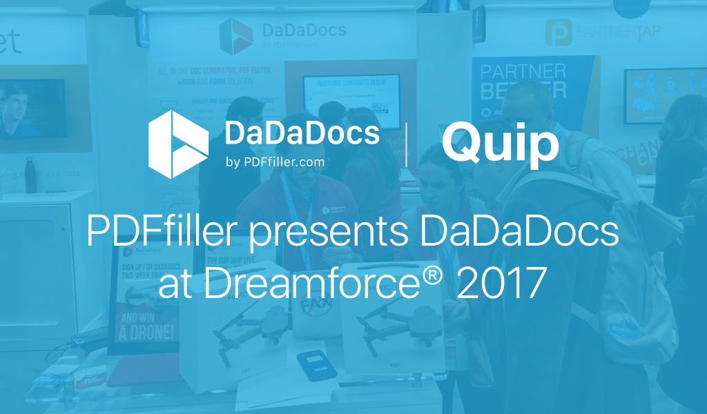 DaDaDocs for Salesforce and Quip at Dreamforce 2017