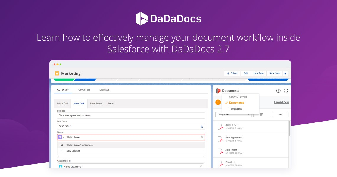 digital workflow, e-signature for Salesforce, Salesforce World Tour, pdf editor for Salesforce, Lightning experience, document lifecycle, data collection for Salesforce, DaDaDocs, PDFfiller