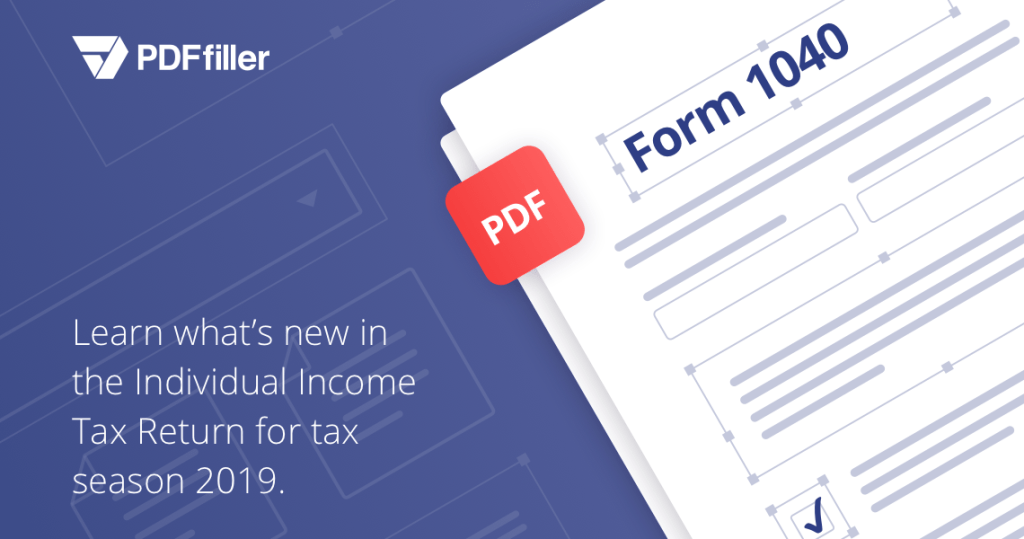 form 1040, taxes 2019, PDFfiller, digital solution