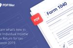 form 1040, taxes 2019, PDFfiller, digital solution