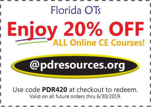 Florida OTs Save 20% on CEUs @pdresources.org