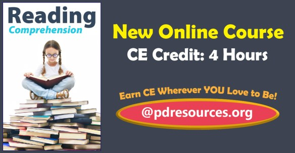 Reading Comprehension is a new 4-hour online continuing education (CE) course that discusses the latest research to help children develop strong reading comprehension skills.
