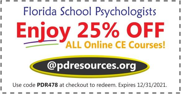 Florida school psychologists save 25% on CE for license renewal