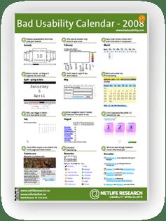 2008 Bad Usability Calendar Portuguese Version