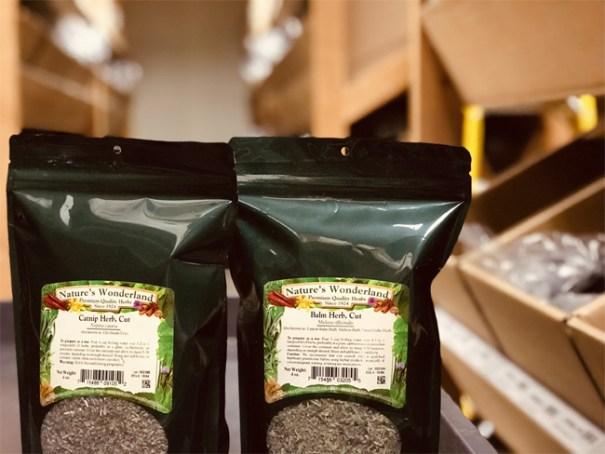 Packages of Penn Herb's Bulk Herbs