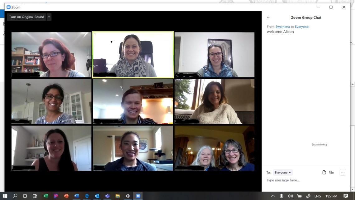 Group Leaders meeting over Zoom