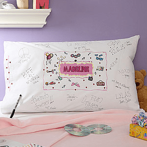 slumpber party custom pillowcase