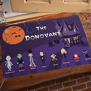 custom halloween doormat