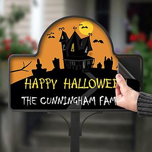 custom Halloween yard stake