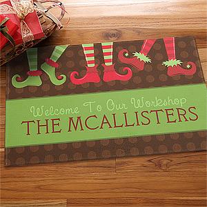 custom holiday doormat