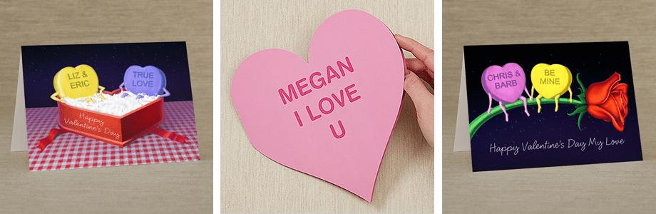 Conversation Hearts Valentine's Day Cards