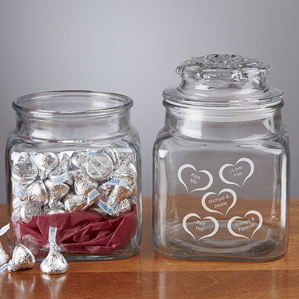 Custom Conversation Hearts Candy Jar