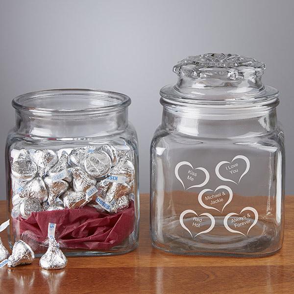Custom Conversation Hearts Candy Jar