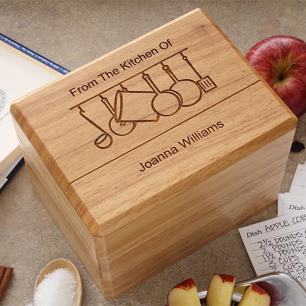 custom recipe box