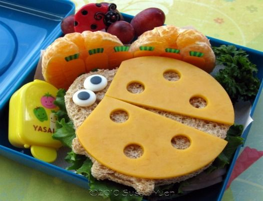 lady bug sandwich