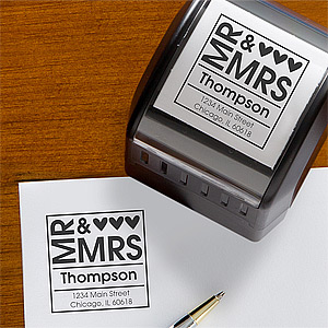 PersonalizationMall's Mr. and Mrs. Return Address Stamper