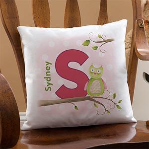 custom owl pillow