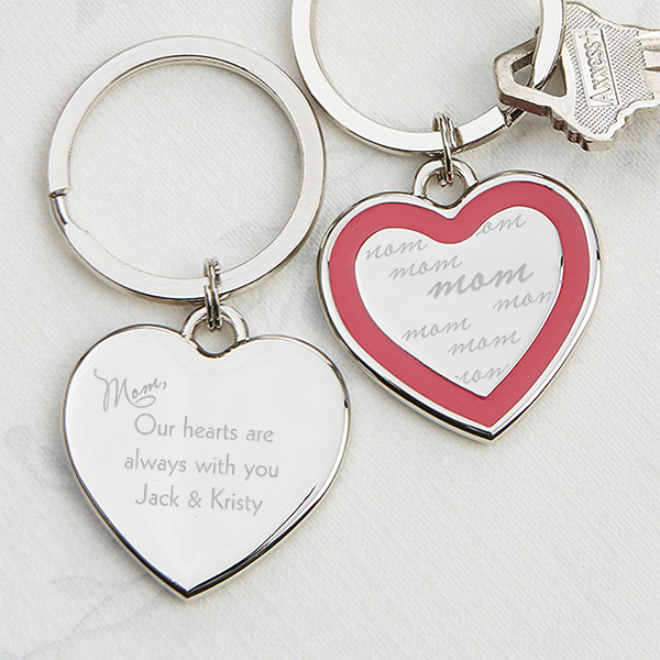 custom heart keyring