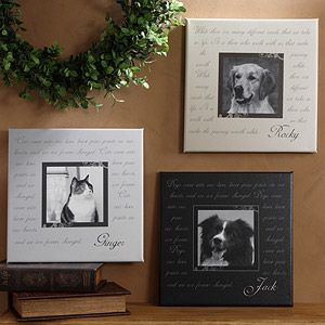 pet memorial canvas