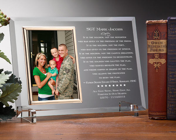 Personalized Military Picture Frame