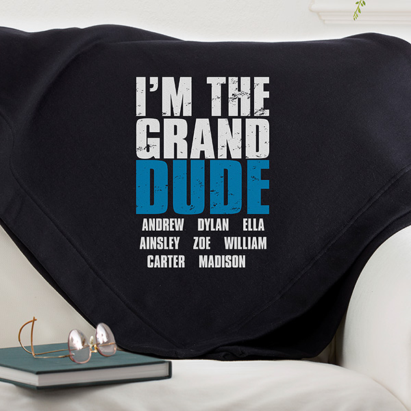 personalized blanket for dad