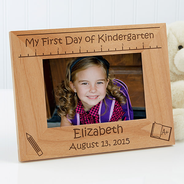 First Day of School Wood Frame