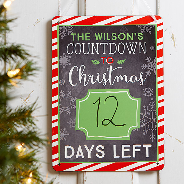 Christmas Countdown Sign