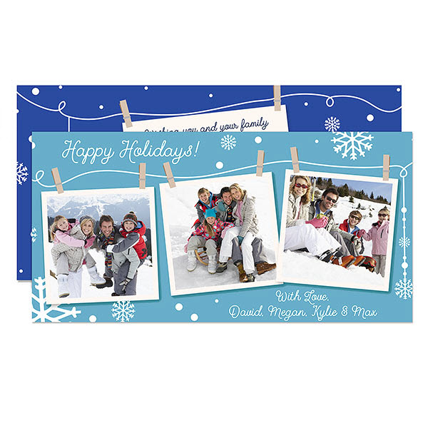Clothesline Personalized Photo Postcards