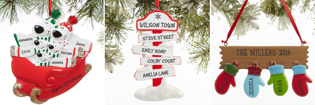 Custom Family Ornaments