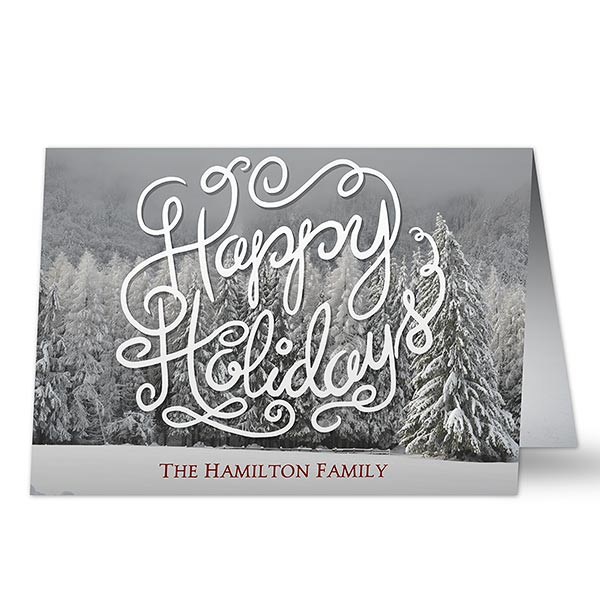 Happy Holidays Custom Card