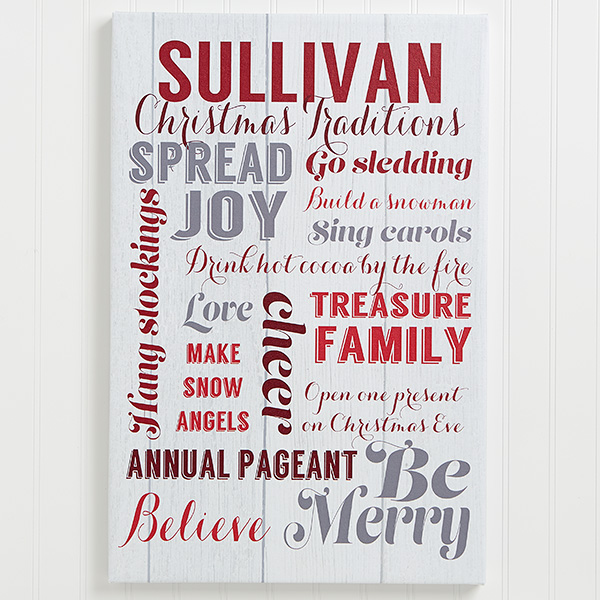 Holiday Family Traditions Canvas Print
