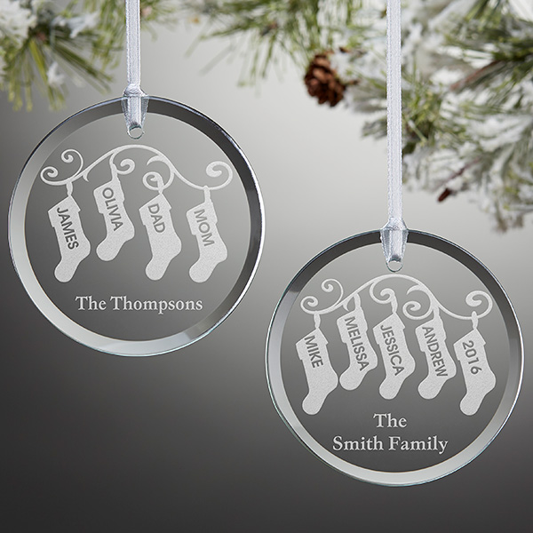 Stocking Family Personalized Ornament