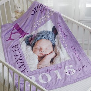Custom Birth announcement Blanket
