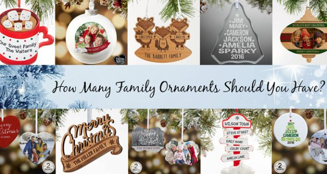 Personalized Family Ornaments