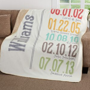 Important Dates Blanket