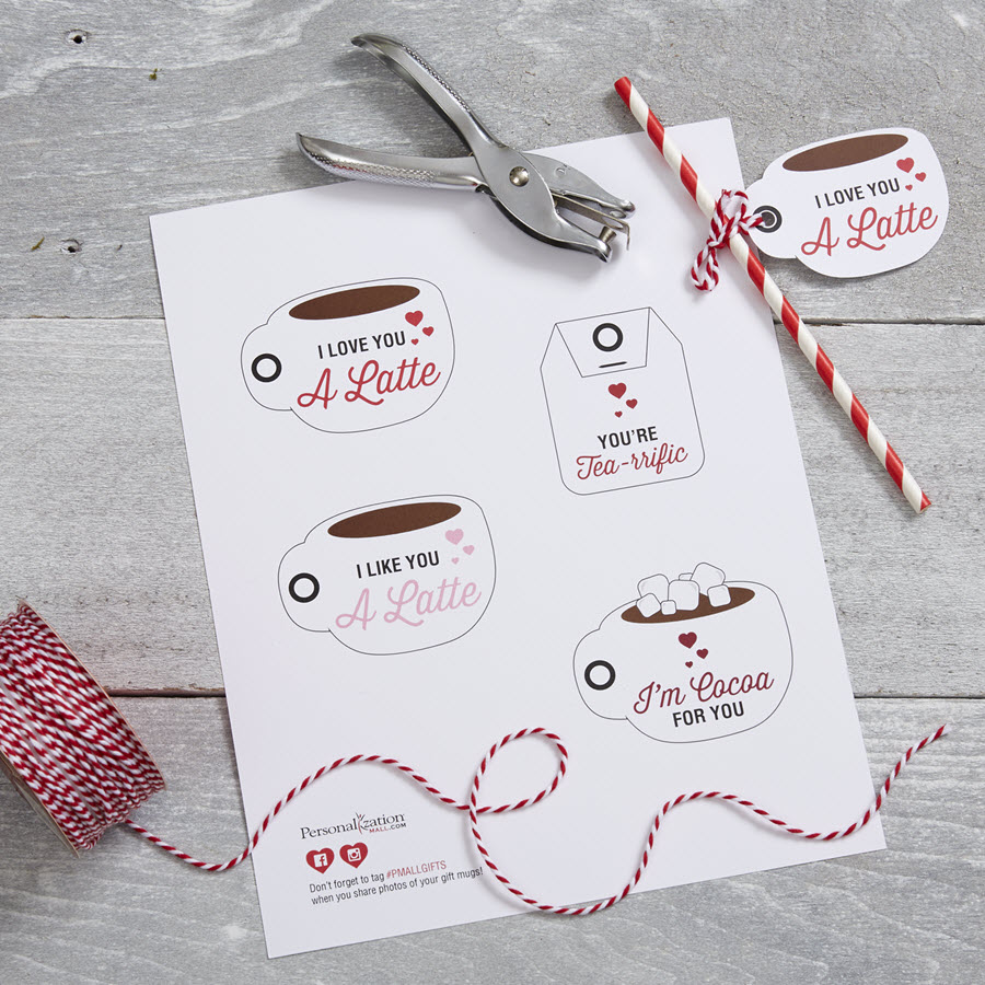 Free Valentines Day Printables I Love You A Latte