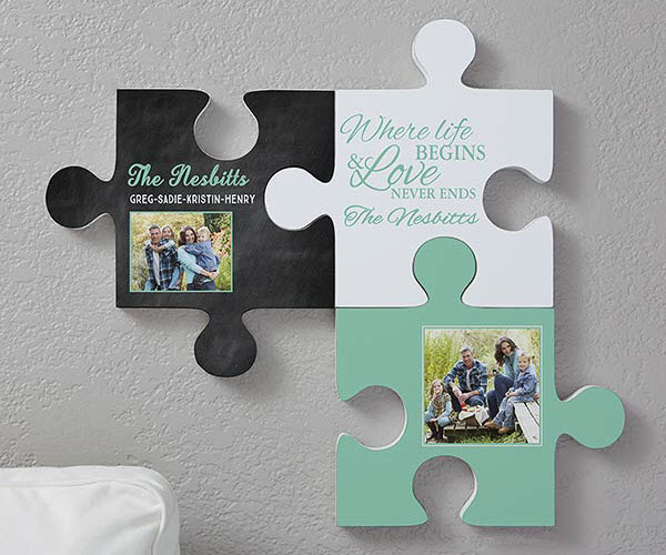 Family Puzzle Piece Wall Decor
