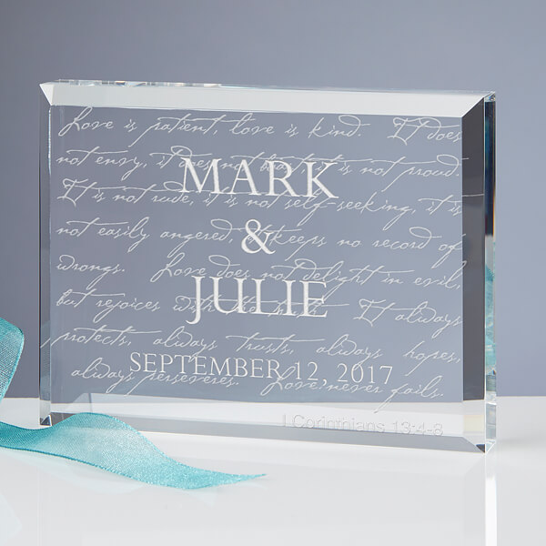 Engraved Keepsake Wedding Gift