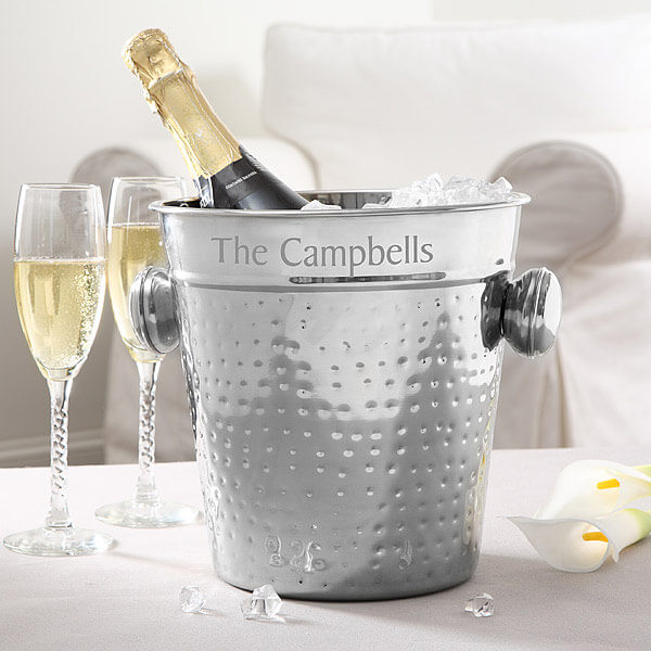 Engraved Ice Bucket Wedding Gift