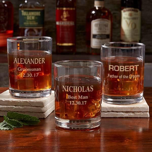 Groomsmen Whiskey Glasses